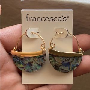 Francesca's Abalone Earrings